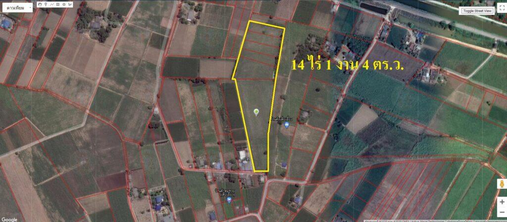 ขายที่ดินดอนชะเอม จ.กาญจนบุรี 14 ไร่ ใกล้ตลาดโลตัส มีถนนตัดผ่าน เหมาะสำหรับทำหมู่บ้าน
