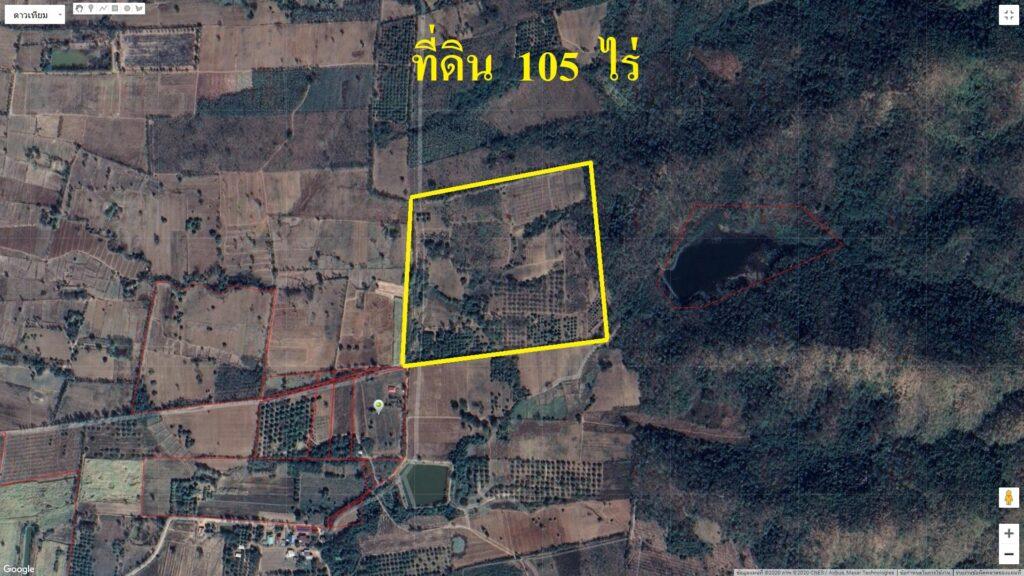 ขายที่ดิน 105 ไร่ ต.กันจุ อ.บึงสามพัน ติดอ่างเก็บน้ำใหญ่ พื้นที่สีเขียว
