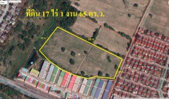 PH824 ขายด่วน ที่บ่อวิน 17-1-65 ไร่ พื้นที่สีเหลือง สร้างหมู่บ้านได้ ไม่ต้องถม