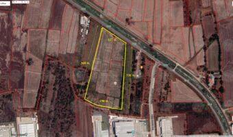 PH579 ขายที่ดิน 30 ไร่ อยุธยา ติดถนนหน้ากว้าง 140 เมตร ใกล้นิคมโรจนะประตู I สร้างโรงงานอุตสาหกรรม หมู่บ้านจัดสรร