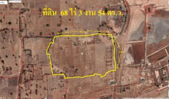 PH836 ขายที่ดิน 68 ไร่ 3 งาน 54 ตารางวา อำเภอโนนสูง ห่างไฟฟ้า 3 เฟส 200 เมตร