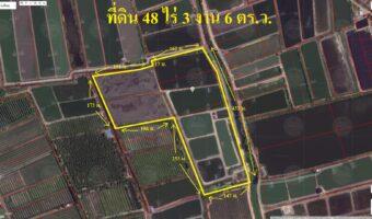 PH853 ขายที่ดิน 48 ไร่ 3 งาน 6 ตารางวา ตำบล ดอนใหญ่ พื้นที่สีเขียวอ่อน ติดถนนสองด้าน