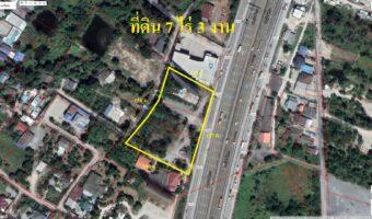 PH854 ขายที่ดิน 7 ไร่ 3 งาน ไร่ละ 13 ล้านบาท พื้นที่สีส้มติดถนนบายพาส (ขาเข้า กทม.)