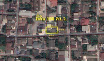 PH701 ขายที่ดิน ลาดพร้าว 35 แปลงมุมเป็นรูปสี่เหลี่ยมผืนผ้า ติดถนน 2 ด้าน เนื้อที่ 100 ตร.ว.