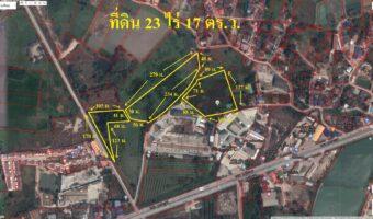PH897 ขายที่ดิน จำนวน 23 ไร่ 17 ตารางวา ติดถนนสุขประยูรตรงข้ามโครงการณ์หมู่บ้านจัดสรรค์