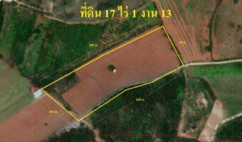 PH717 ขายที่ดิน 17 ไร่กว่า ตำบลขนงพระ มีบ่อน้ำและไฟฟ้า
