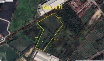 PH910 ขายที่ดิน 10 ไร่ พื้นที่สีชมพู ติดหมู่บ้านและโรงงาน ใกล้วัดเทียนดัด