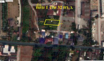 PH923 ขายที่ดินเปล่าขนาด 1 งาน 32 ตารางวา ไม่ต้องถมที่ดินเสมอถนนด้านหน้า 14 เมตร