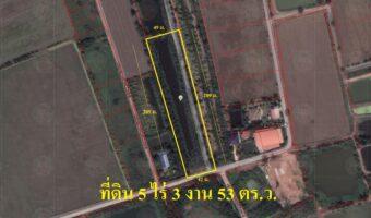 PH767 ขายถูกที่ดินเปล่าจังหวัดฉะเชิงเทรา 5 ไร่ 3 งาน 53 ตารางวา เป็นพื้นที่สีชมพู
