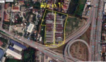 PH786 ขายที่ดินนนทบุรี 13 ไร่ ตำบลบางกร่าง นนทบุรี ไฟฟ้าประปาพร้อม