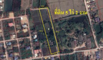 P3 ขายที่ดิน 5 ไร่ 2 งาน เมืองราชบุรี ติดหมู่บ้านจัดสรร ติดคลองส่งน้ำ