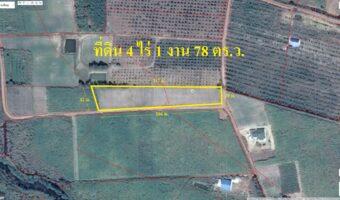 P11 ขายที่ดิน 4 ไร่ 1 งาน 78 ตารางวา ติดถนนกรมชลอ่างคลองหลวงรัชโรทร พื้นที่สีเหลืองอ่อน