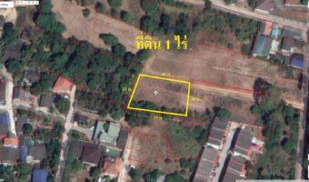 PH941 ขายที่ดินเปล่า 1 ไร่ พื้นที่สีส้ม อำเภอศรีราชา ติดถนนสาธารณะ ใกล้โรงเรียน