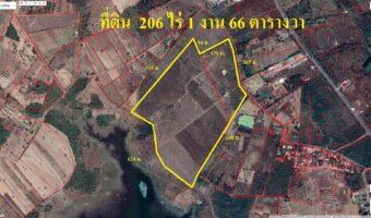 PH943 ขายที่ดินพื้นที่สีเขียว 206 ไร่ 1 งาน 66 ตารางวา สกลนคร ติดอ่างเก็บน้ำห้วยโทง