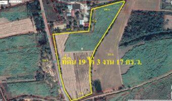 PH996 ขายที่ดิน 19 ไร่ 3 งาน 17 ตารางวา ใกล้โรงเรียน ใกล้วัด พื้นที่สีเขียว