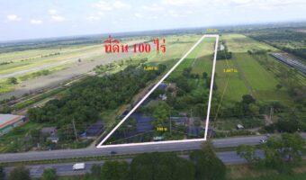 PH485 ขายที่ดิน 100 ตารางวา ติดถนนหลวง ขายพร้อมโอน
