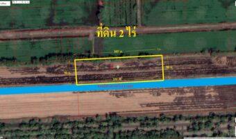 PH990 ขายที่ดิน 2 ไร่หนองเสือ ใกล้บ้านบุษยพัชร พื้นที่สีชมพู
