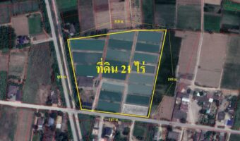P51 ขายที่ดินเป็นบ่อเลี้ยงปลา พิกัด บ้านโป่ง จ.ราชบุรี ผังสีชมพู