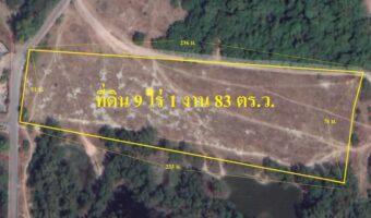 P62 ขายที่ดิน 9 ไร่ 1 งาน 83 ตารางวา หเมืองพัทยา ติดถนนสาธารณะประโยชน์ 2 ด้าน ผังสีส้ม
