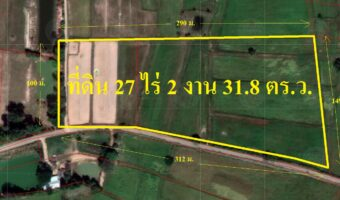 PH41 ขายที่ดินบ้านหนองแปน ตำบลหนองจิก 22 ไร่ 5 ตารางวา ผืนใหญ่ สวย