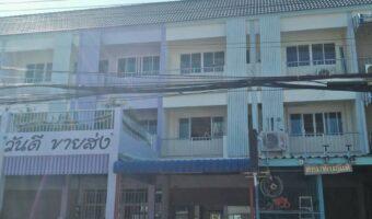 P121 ขายขาดทุน อาคารพาณิชย์ในตลาดเทศบาลสัตหีบ พื้นที่ใช้สอยเต็มพื้นที่