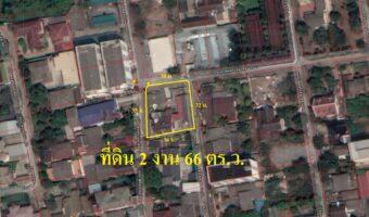 P90 ขายที่ดิน 266 ตารางวา เสนานิคม เขตจตุจักร หน้าซอยมีรถไฟฟ้าผ่าน ผังสีส้ม