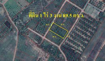 P135 ขายที่ดิน 1 ไร่ 3 งาน 89.5 ตร.ว. อำเภอป่าซาง ลำพูน มองเห็นพระพระพุทธบาทตากผ้า