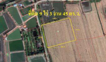 P153 ขายที่ดินมีโฉนด 9 ไร่ 3 งาน 45 ตร.ว. ผังสีเขียว