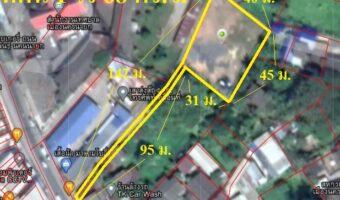 P161 ขายที่ดินถมแล้วเต็มพื้นที่ 1 ไร่ 68 ตร.ว. ในเขตเทศบาลเมืองนครนายก ผังสีชมพู