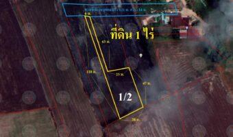 P172 ขายที่ดิน 1 ไร่ อำเภออุทัย จังหวัดพระนครศรีอยุธยา ไฟฟ้าประปาพร้อม อยู่ใกล้แหล่งน้ำ