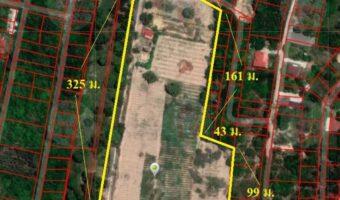 P201 ขายที่ดิน 25 ไร่เป็นที่ว่างเปล่าทำเลดีราคาโดน ติดทางสาธารณะประโยชน์ 2 ด้าน ผังสีชมพู