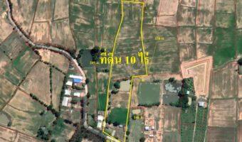 P218 ขายที่ดินเนื้อที่ 10 ไร่ อำเภอเมืองบุรีรัมย์ ใกล้โครงการหมู่บ้าน ผังที่ดินสีชมพู