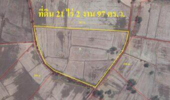 P238 ขายที่ดิน 21 ไร่ 2 งาน 97 ตร.ว. อำเภอหนองมะโมง จ.ชัยนาท ผังสีเขียว