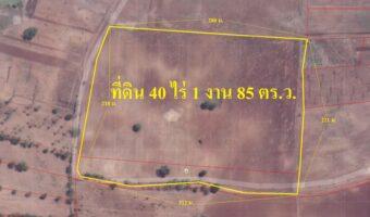 P263 ขายที่ดินมีโฉนด 40 ไร่ 1 งาน 85 ตร.ว. อำเภอ ลำสนธิ ใกล้เขื่อนกุตตาเพชร
