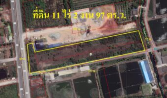 P269 ขายที่ดินบ้านเเพ้ว ติดถนนใหญ่ ถมเเล้ว จำนวน 11 ไร่กว่า ผังสีเขียวอ่อน มีโครงการทางด่วน