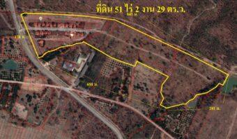 P273 ขายที่ดินเนื้อที่ 51 ไร่ 2 งาน 29 ตารางวา ตำบลมะเขือแจ้ จังหวัดลำพูน ใกล้ชุมชน สนามบิน วิวภูเขา ใบอนุญาติจัดสรรพร้อม