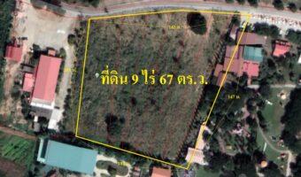 P250 ขายที่ดินเนื้อที่ 9 ไร่ 67 ตารางวา ทำเลทอง ติดสถานที่ท่องเที่ยว เส้น 36 พัทยา ผังสีส้ม