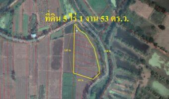 P292 ขายที่ดินแปลงสวย ราคาจับต้องได้ 5 ไร่ 1 งาน 53 ตารางวา ตำบลดงมูลเหล็ก เพชรบูรณ์ ติดแม่น้ำป่าสัก ใกล้ห้าง และสถานพยาบาล