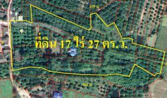 P279 ขายที่ดินหางดงใกล้ ม.นอร์ท-เชียงใหม่ 17 ไร่ 27 ตารางวา อำเภอหางดง เชียงใหม่ ผังสีเขียว