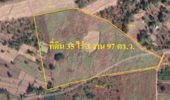 P308 ขายที่ดิน 35 ไร่ 3 งาน 97 ตรว. อ.เมืองหนองบัวลำภู ที่ดินเป็นโฉนด ติดถนน 3 ด้าน พร้อมโอน ใกล้ สนง.เทศบาล