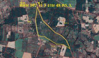 P276 ขายที่ดิน 107 ไร่ 3 งาน 48 ตร.ว. อำเภอ เพ็ญ อุดรธานี ผังที่ดินสีเขียว ใกล้โรงเรียน