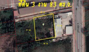 P326 ด่วนค่ะ!!! ขายและให้เช่าที่ดินเปล่า 383 ตร.ว. หทัยราษฎร์ กทม. ฝังสีเหลือง อยู่ในชุมชนเดินทางสะดวกใกล้มอร์เตอร์เวย์
