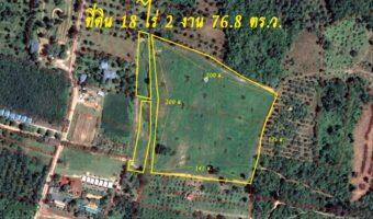 P328 ขายด่วนค่ะที่ดินเกาะสมุย ผังสีชมพู เป็นโฉนดครุฑแดง จำนวน 18 ไร่ 2 งาน 76.8 ตร.ว. ใกล้รีสอร์ทและสถานที่ท่องเที่ยว