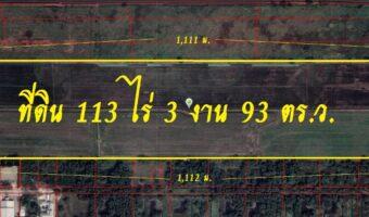 P340 ขายที่ดิน 113 ไร่ 3 งาน 93 ตร.ว. อำเภอลำลูกกา ปทุมธานี ติดถนนเลียบคลอง 6 แปลงนี้สวยมากรีบติดต่อมานะคะ